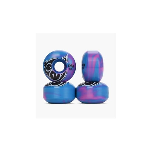 Pig Rollen: Pig Head Swirls New Blue (52 mm)
