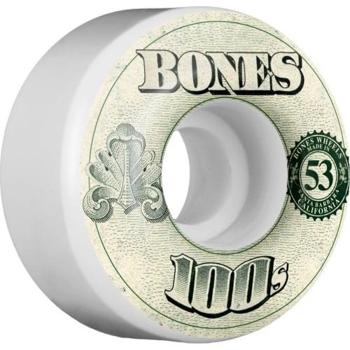 Bones Rollen: 100 #11 OG White (53 mm)