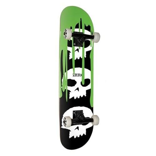Zero Komplettboard: 3 Skull Blood Green 7.625