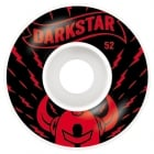 Darkstar Rollen: Axis Red/White (52 mm)