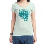 Roxy Girl T-Shirt: Tunic Sheer Nature GN, S