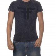 Fallen T-shirt: Trademark MC Acid Wash BK