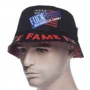 Grimey Hut: Fuck Fame Bucket Hat BK