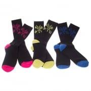 Etnies Sockens: Bones 3 Pack Sock BK