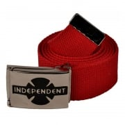 Independent Gürtel: Clipped Cardinal Red RD