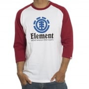 Element  Longsleeves (3/4) T-Shirt: Vertical Raglan WH/RD