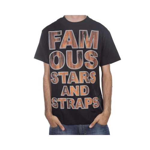 Famous Stars&Straps T-Shirt: Rosewood Type BK, S