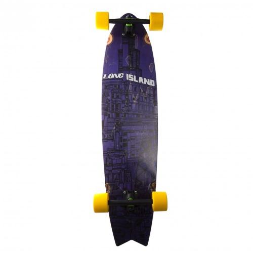 Long Island Skateboard Komplett-Longboard: 13A City Building Spring