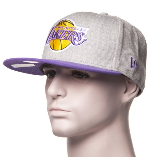New Era Cap: 59Fifty Heather Pop L.A. Lakers GR/PP