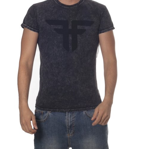 Fallen T-shirt: Trademark MC Acid Wash BK
