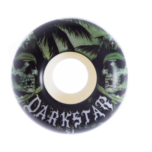 Darkstar Rollen: Helm Green/White (51 mm)