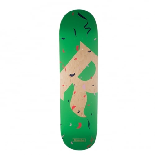 Rumba Skateboarding Deck: Party Piñata Green 8.5