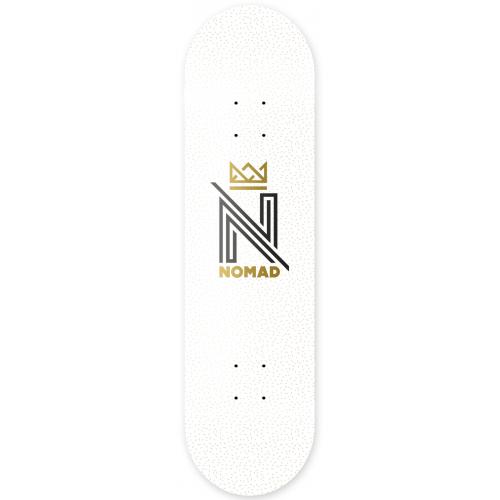 Nomad Deck: OG Logo White DLIGHT 8.0
