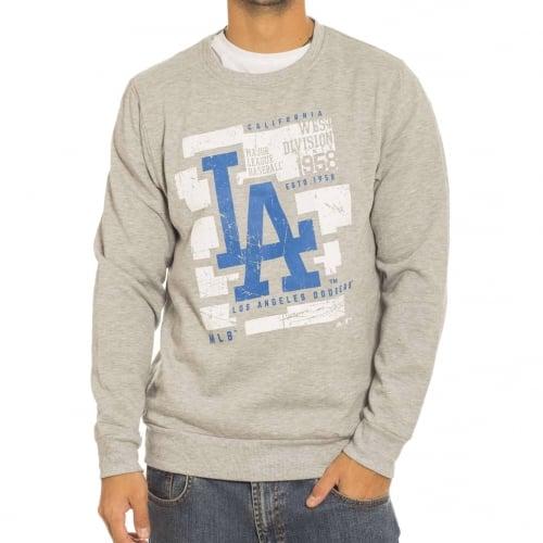 Majestic Swetshirt: Graphic Crew LA Dodgers GR