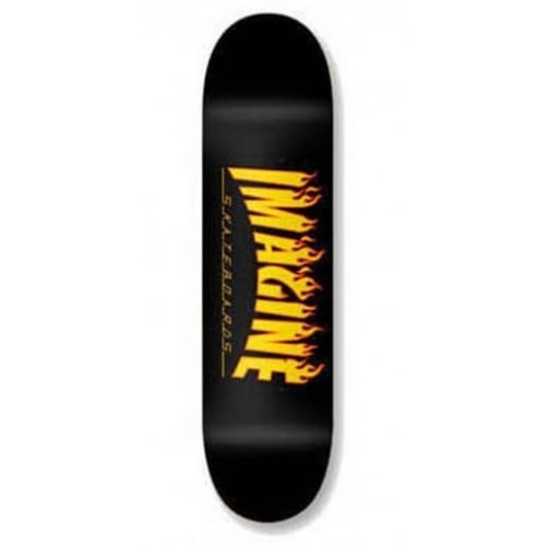 Imagine Skateboards Deck: Flames 8.5