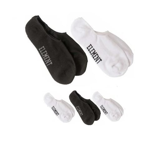 Element Sockens: Low-Rise Socks 5 Pack WH/BK