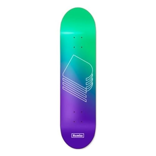 Rumba Skateboarding Deck: Gardienr Green Purple 8.6