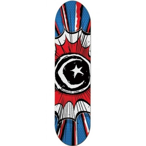 Foundation Skateboards Deck: Star And Moon Comic 8