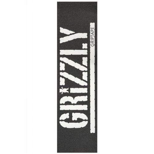 Grizzly Griptape: Oversized Stamp Print White