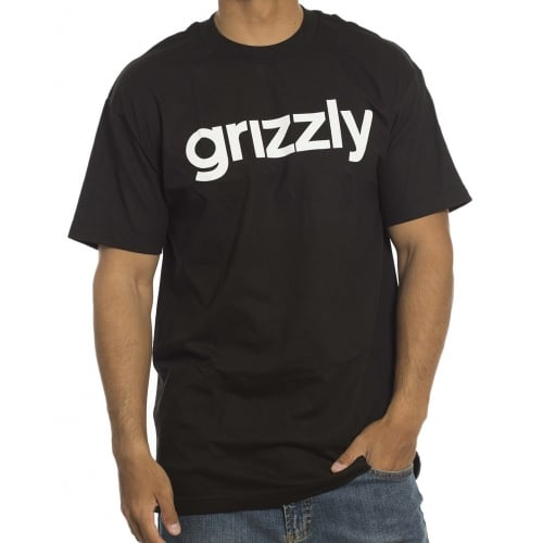 Grizzly T-Shirt: Lowercase BK