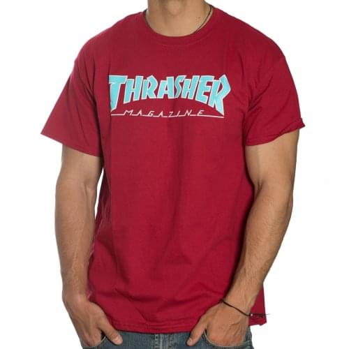 Thrasher T-Shirt: Outlined Tee RD