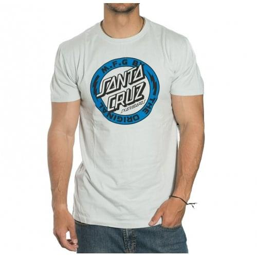 Santa Cruz T-Shirt: Voltage Colour Asphalt GR