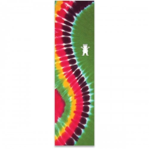 Grizzly Griptape: Curved Tie-Dye Green