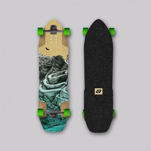Complete Longboard Hydroponic: SHERPA 2.0 Turquoise 38,3x9,53