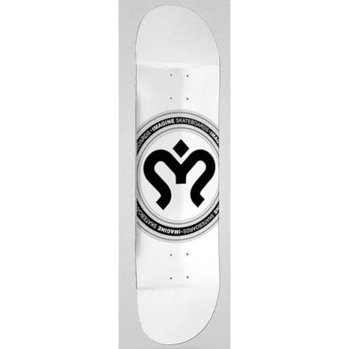 Imagine Skateboards Deck: Medallion Silver 8.5