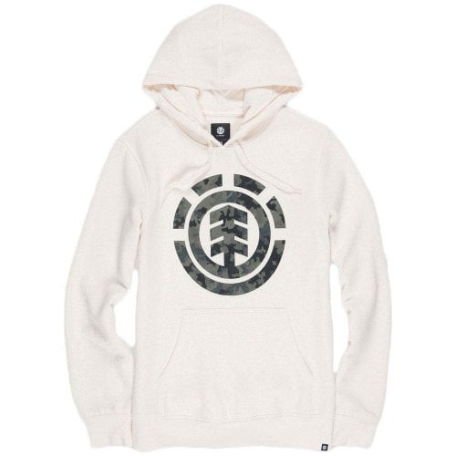 Element Sweatshirt: Bark logo Hoodie Bone White WH
