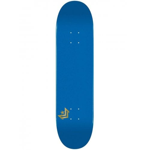 "Mini-Logo Skateboards Deck: Maple ""10"" 249 K20 Chevron Metalic Blue 8.75"