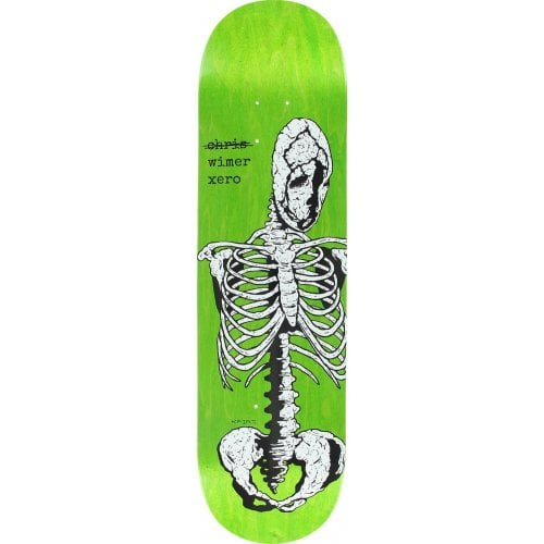 Zero Deck: Chris Wimer Skeletal Green 8.25