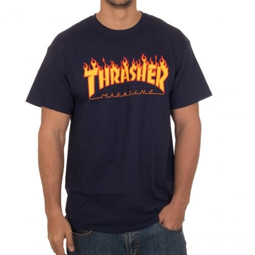Thrasher T-shirt: Flame Logo NV