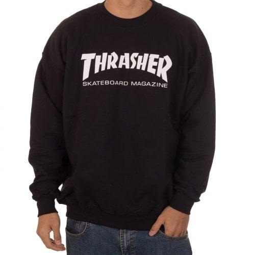 Thrasher Sweatshirt : Skate Mag Crew BK