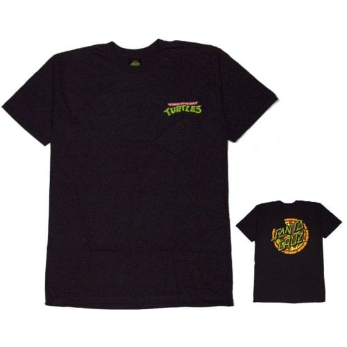 Santa Cruz T-shirt: TMNT Pizza Dot BK
