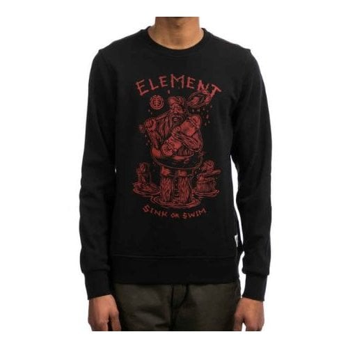 Element Sweatshirt: River Keeper Crew BK