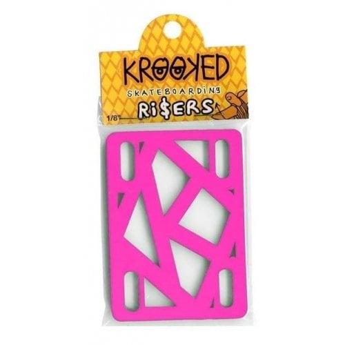 "Krooked Skateboardings Riser Pads: Riser Pads Hot Pink 1/8"""