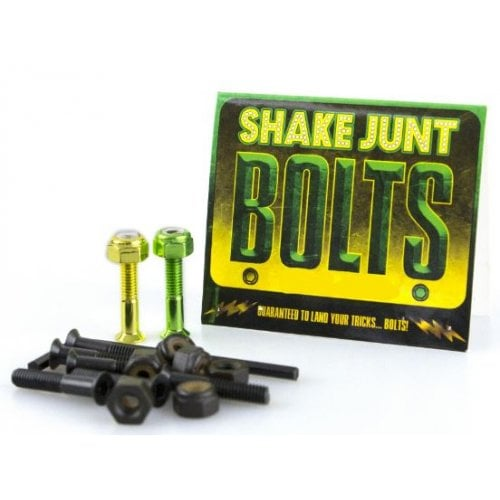 "Shake Junt Montageset: Bag o' Bolts 1 Green, 1 Yellow 1"" Phillips"