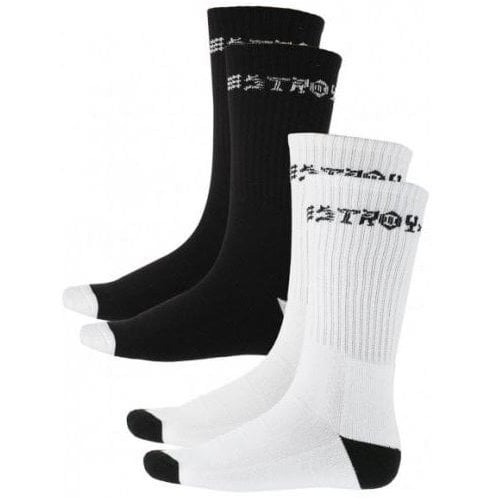 Thrasher Sockens: Skate and Destroy BK/WH