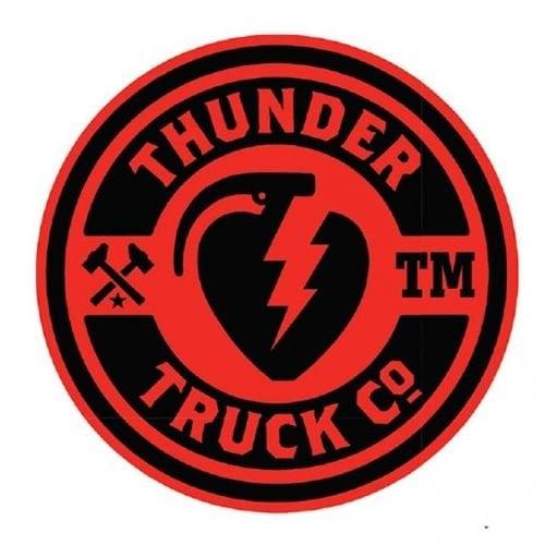 Stickers Thunder Trucks Co: Logo 45 RD/BK