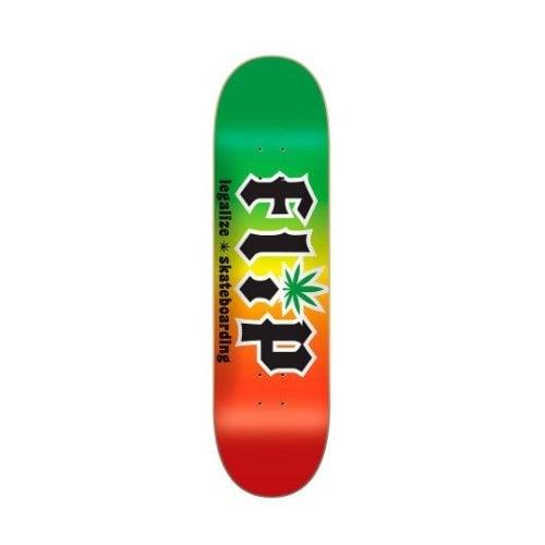 Flip Deck: HKD Legalize Rasta 8.25 x 32.31