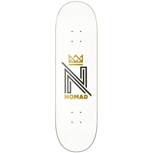 Nomad Deck: OG Logo White 8.25x31.7
