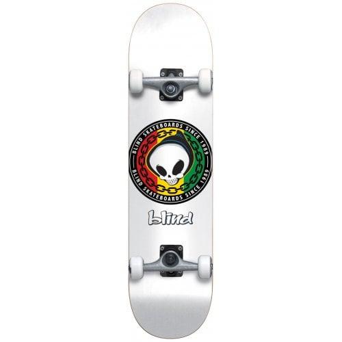 Blind Komplettboard: Rasta Reaper White 8.125x31.3