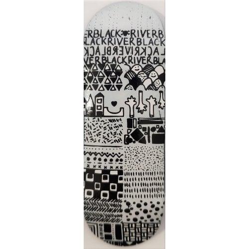 BerlinWood Fingerboard Deck: Wide BR En Voyage Mini Pattern 32mm