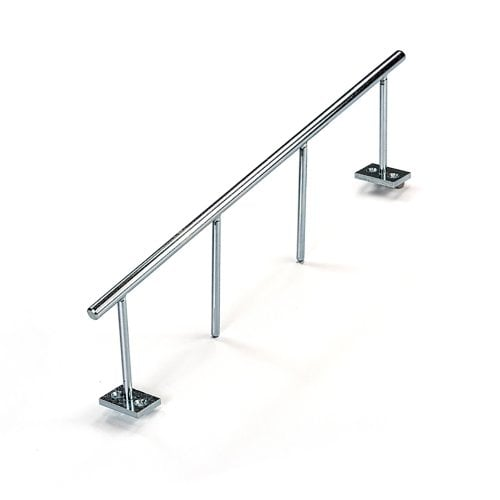 Blackriver Ramps: Ironrail Stairset round/silver