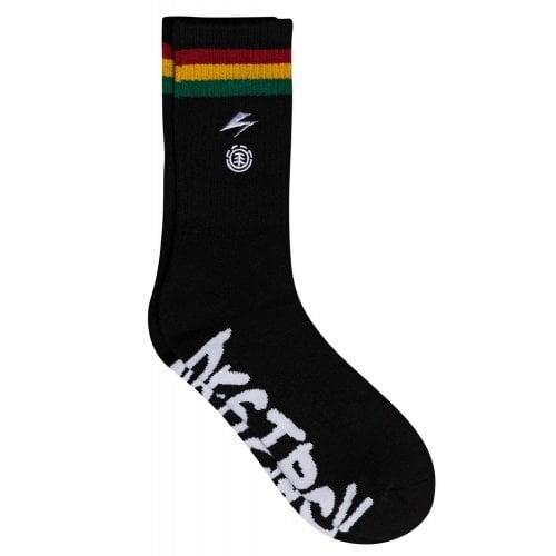 Element Sockens: BB Striped Socks Black