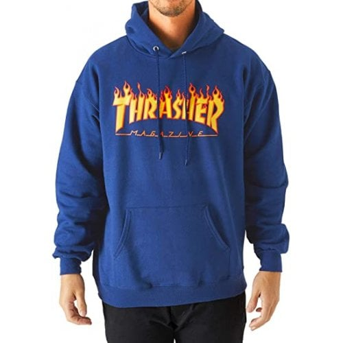 Thrasher Hoodie: Flame Logo Hood RY