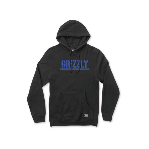 Grizzly Sweatshirt: Stamp Hoodie BK