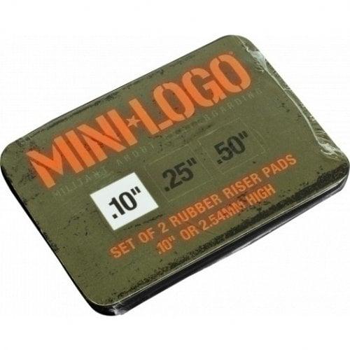 "Mini-Logo Pads: Riser Rubber 10"" Black (Pack 2)"