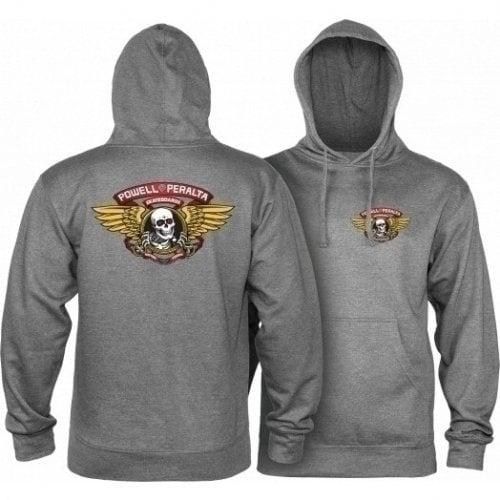 Powell Peralta Sweatshirt/Hoodie: Winged Ripper Gun Heather